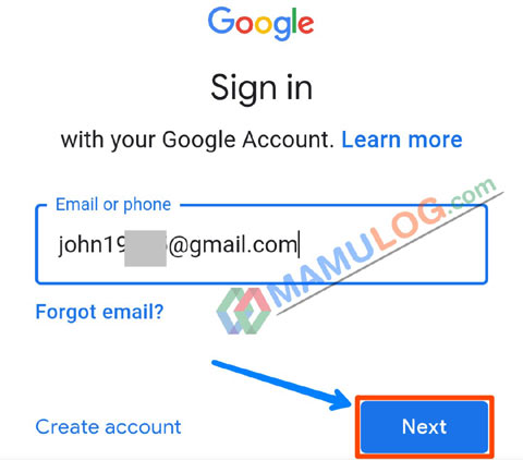 play store email