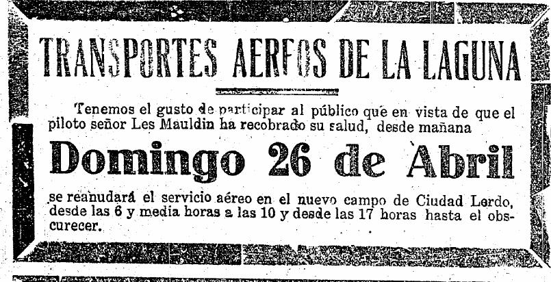 El Breve Historia del Aeropuerto Francisco Sarabia de Torreón ...