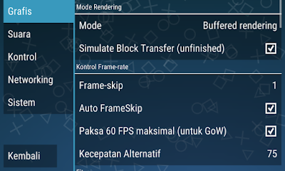 Cara Setting Emulator PPSSPP Dengan Benar Agar Tidak Lag