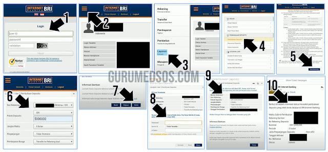 Cara Deposito BRI Lewat Internet Banking BRI