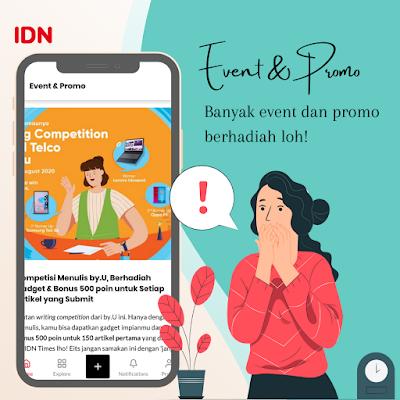 Event IDN App aplikasi berita terlengkap