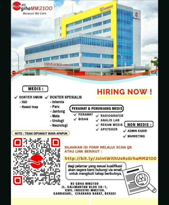 Loker RS GRHA MM2100 Cikarang Barat, Bekasi