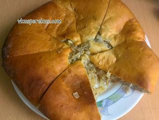 начинка для осетинского пирога из капусты и орехов, кабускаджин