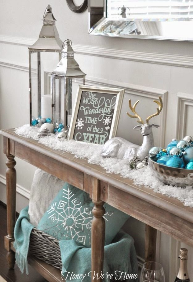 Snowy Aqua & Mint Mantel: Honey We're Home