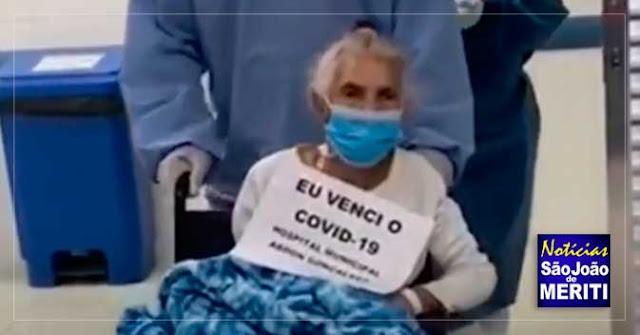 Idosa é a 89ª paciente a se recuperar do coronavírus em Meriti