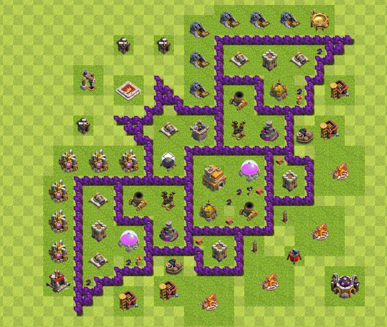 creative clash of clans base