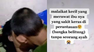 Sedih!!! Kisah Mengharukan Bocah Usia 9 Tahun Peluk dan Cium Jasad Ibunya, Ikut Rawat saat Sakit keras