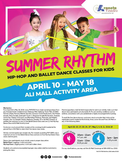 SUMMER RHYTHM: Hip-Hop and Ballet Dance Classes for Kids, Ali Mall, #seeyouinaraneta,  Dance Plus Philippines