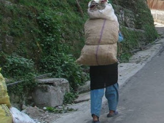 Life of a Nepalese Porters in Himalayan locale