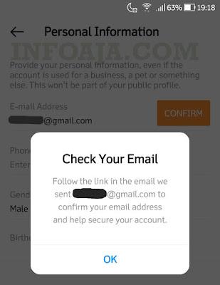 Cara menambahkan email instagram
