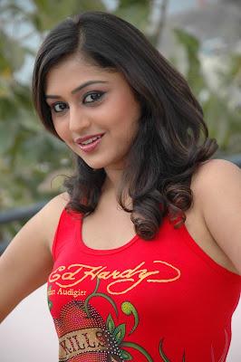Ramya Barna Cute Still In Red