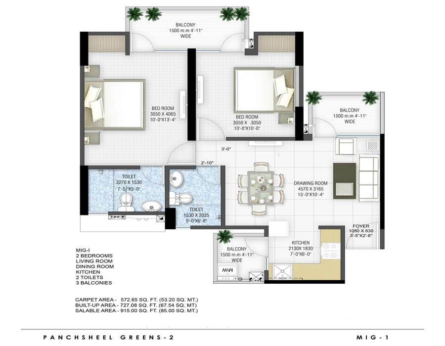 915-sq.ft.-2bhk-floor-plan