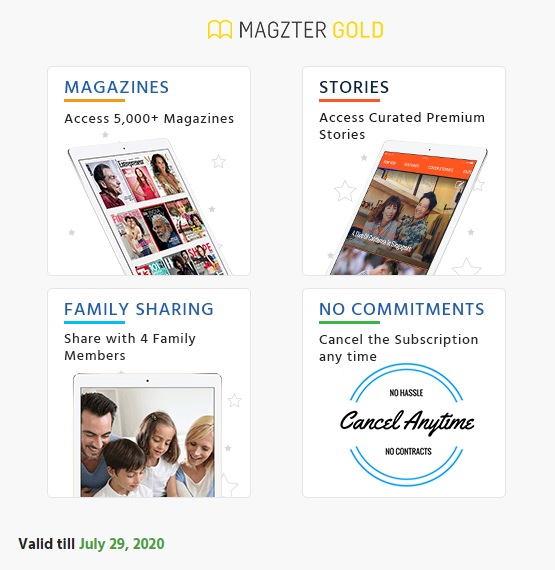 Magzter- Free 2 months subscription Code- PVR2WFH - Deal Man