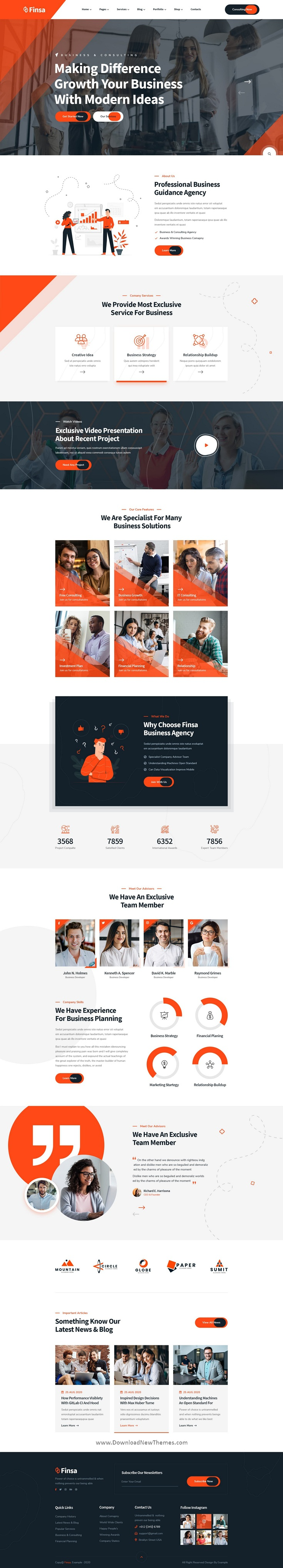Consulting & Agency Website Template