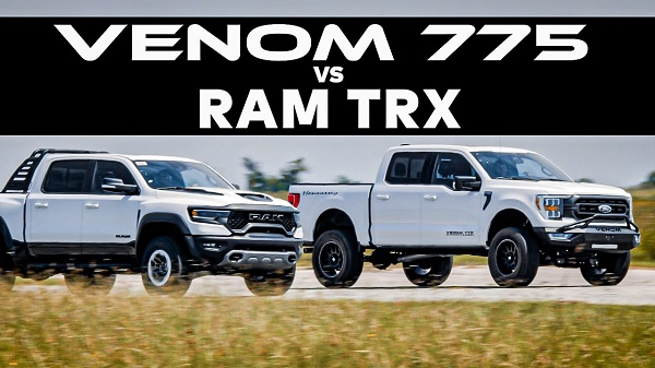 Hennessey Venom 775 Supercharged vs RAM 1500 TRX
