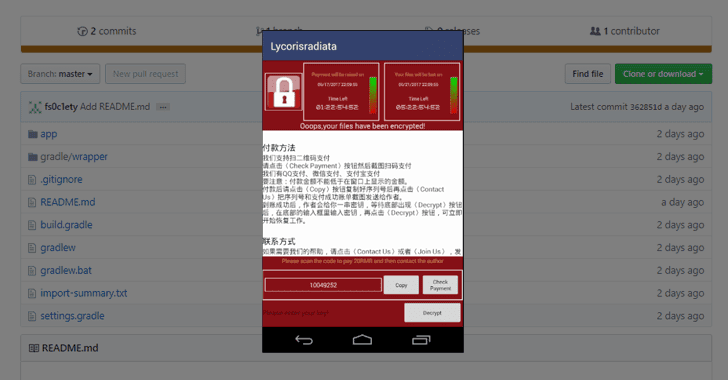 Decompiled SLocker Android Ransomware Source Code Published Online