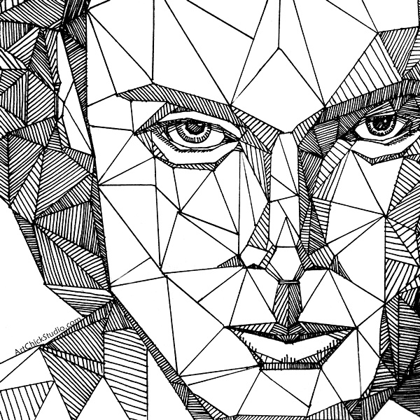 Geometric Portrait Art Chick Studio