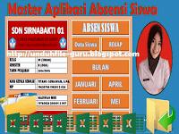 Aplikasi Absensi Siswa Lengkap dengan Grafik Siswa Format Excel Format Excel