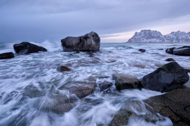 utaklieve beach in norway