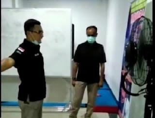 Ditresnarkoba Polda Jambi Laksanakan Senam Sehat Dan Penyemprotan Disinfektan Untuk Putus Rantai Covid-19