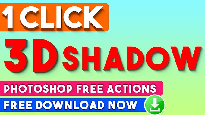 1 Click Magic 3D Text and 3D Shadow Effects  Photoshop Actions
