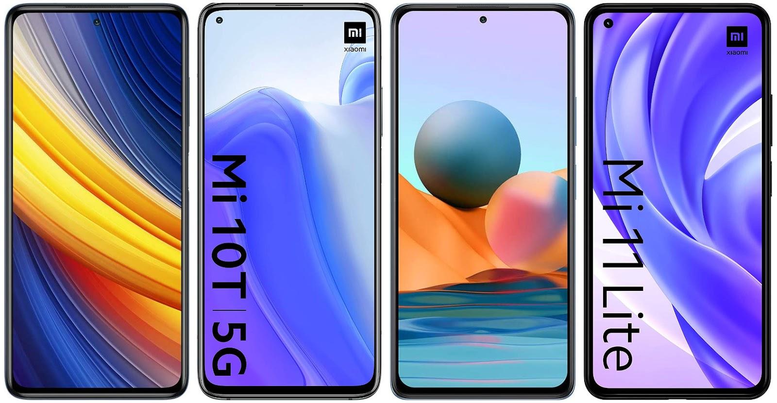 Xiaomi Poco X3 Pro vs Xiaomi Mi 10T vs Xiaomi Redmi Note 10 Pro vs Xiaomi Mi 11 Lite