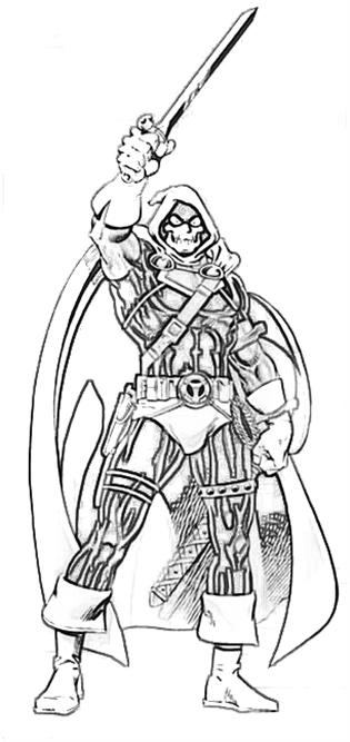 Taskmaster Drawing Coloring Pages