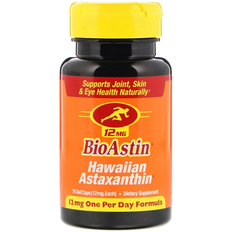 Nutrex Hawaii, BioAstin, 12 мг, 75 гелевых капсул