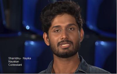 Shambhu-contestant of Nayika Nayakan Show