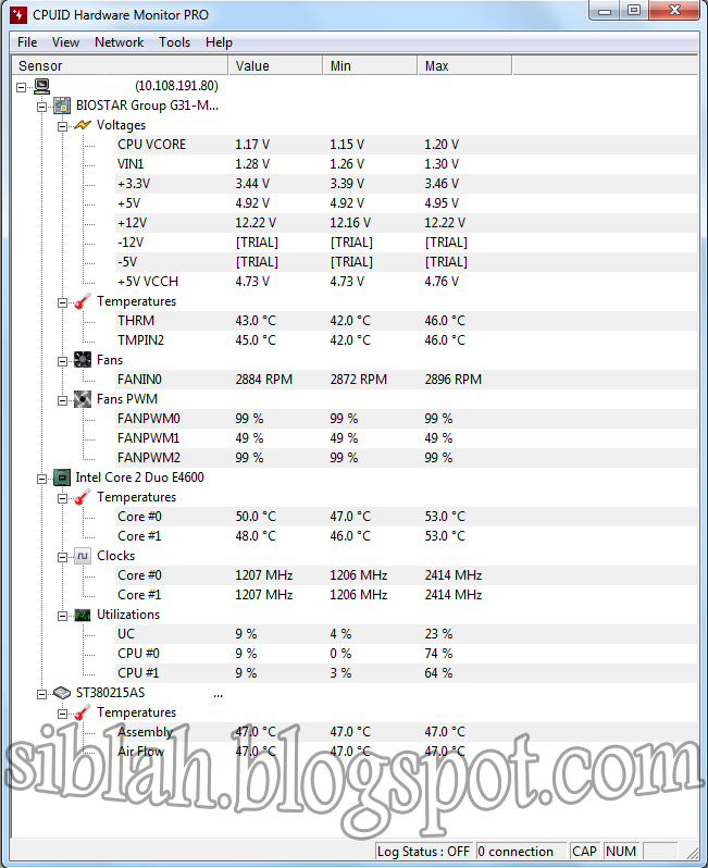 CPUID HWMonitor Pro V 1 23 + Key | Siblah