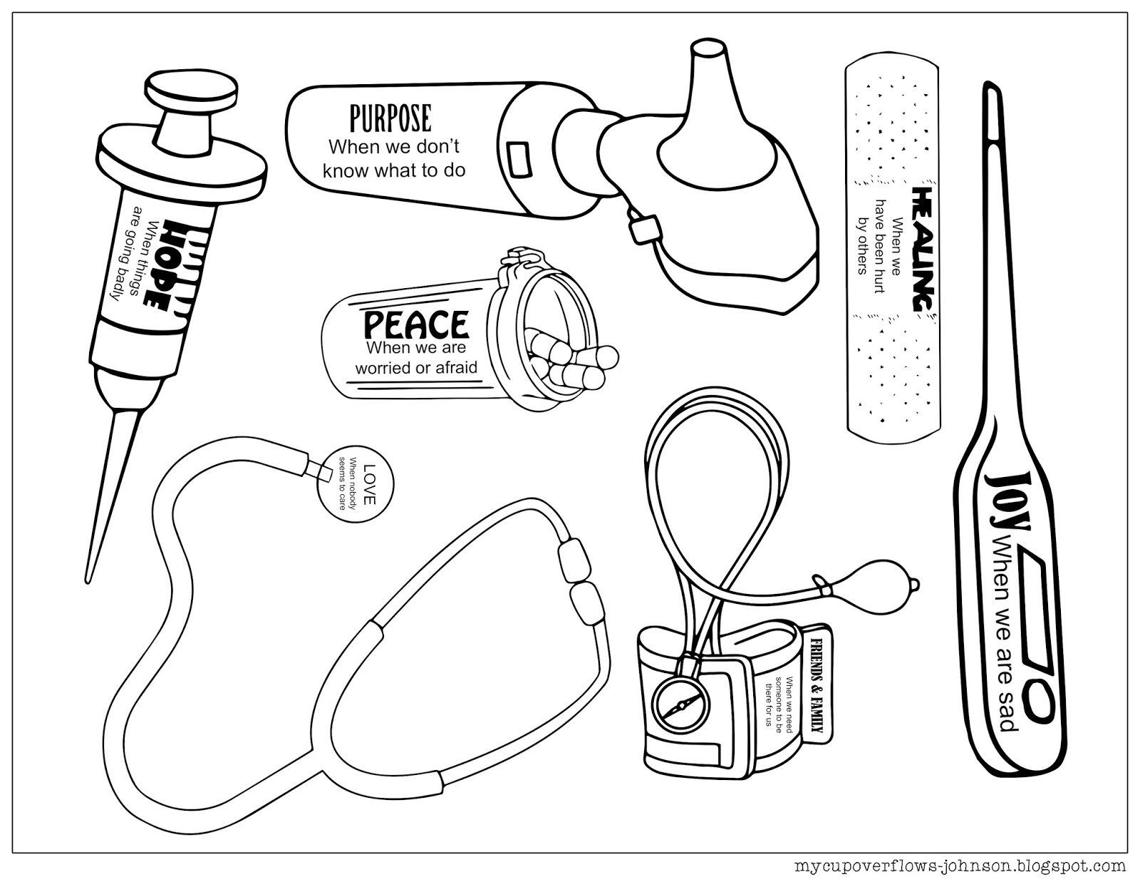 kids coloring pages doctors tools - photo#3