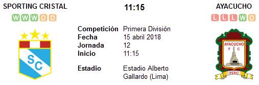 Sporting Cristal vs Ayacucho en VIVO