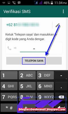cara mudah daftar akun whatsapp di android