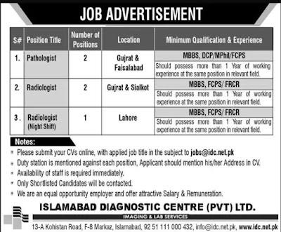 Jobs for Radiologists, Pathologist