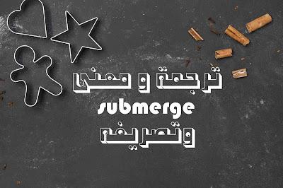 ترجمة و معنى submerge وتصريفه