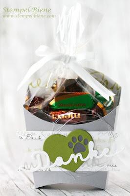 stampin' Up bigz pommesschachtel, schokoladenverpackung basteln, schnelle mitbringsel basteln, stampin up recklinghausen, stempel-biene