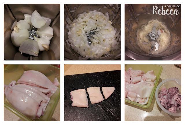 Receta de chipirones (calamares) encebollados 01
