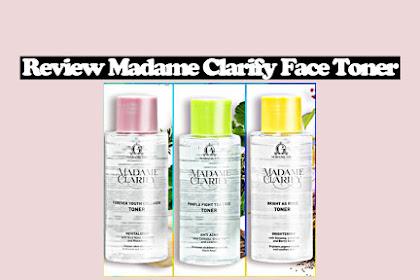 Review Madame Clarify Face Toner