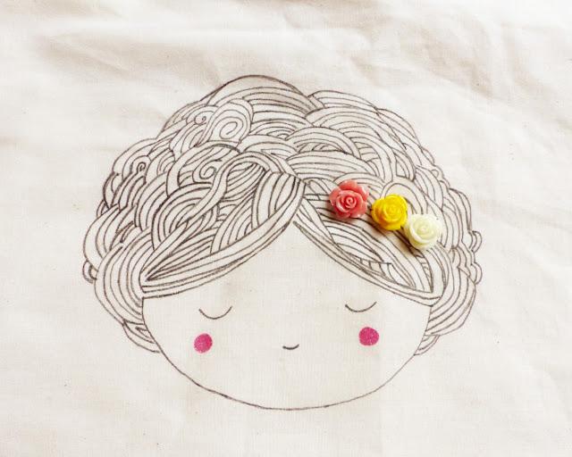 DIY, totebag, sac, une fille à frange, perle des loisirs