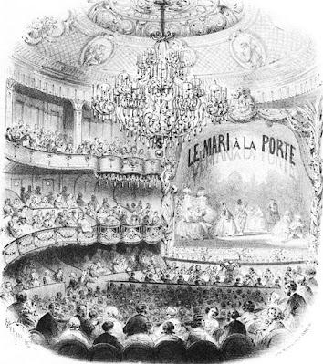 Théâtre des Bouffes-Parisiens during Le mari à la porte' in 1859