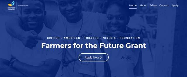 BAT Nigeria Foundation Farmers for the Future (F4F) Grant 2021 Program