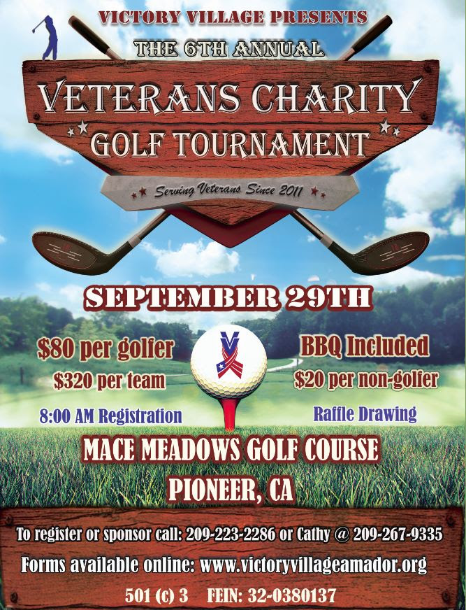 6th Annual Veteran Charity Golf Tournament - Sat Sept 29