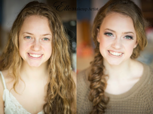 Before and After - Makeup for 2015 Senior Photos