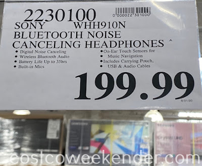 Deal for the Sony WH-H910N Noise Cancelling Headphones at Costco
