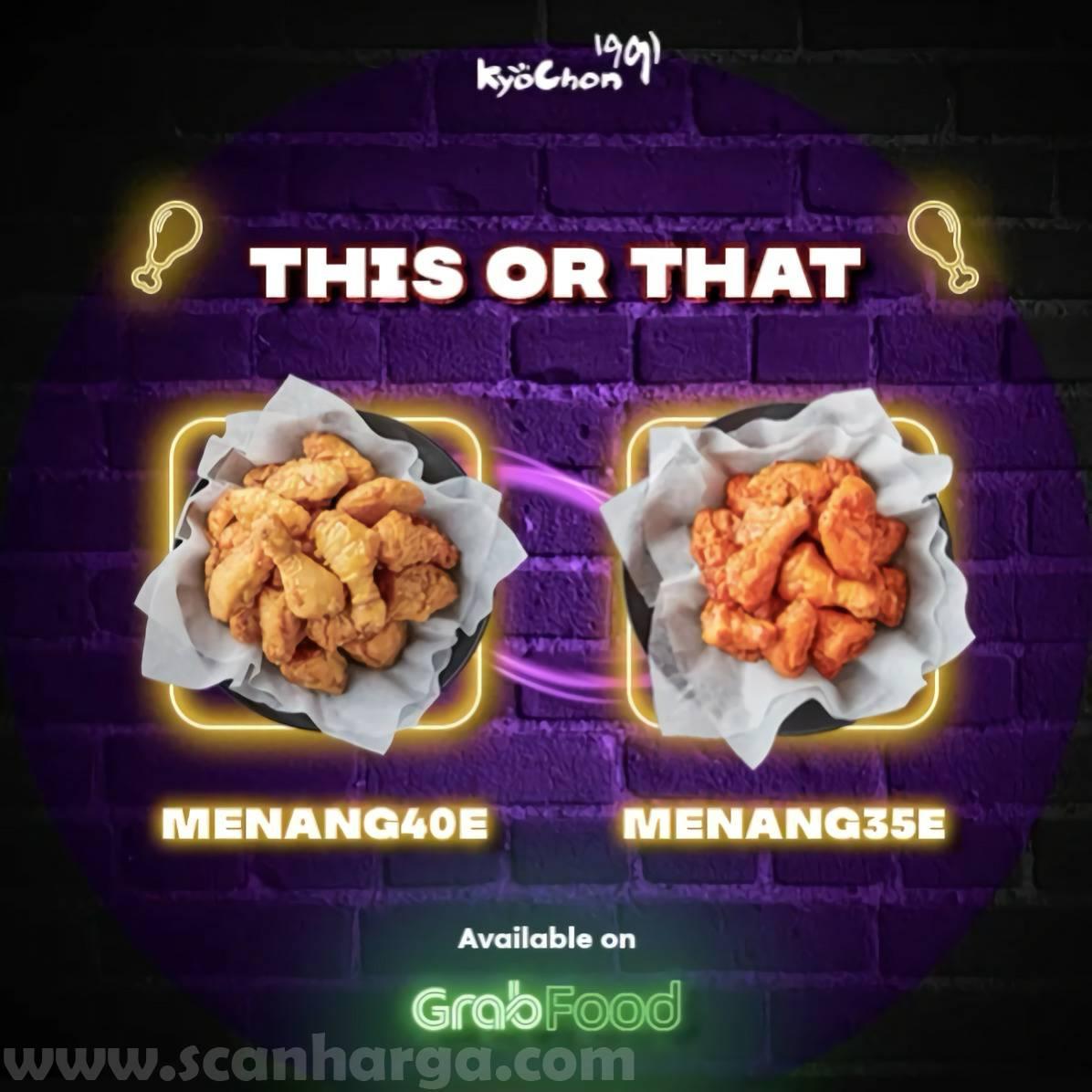 Promo Kyochon Makanthon Diskon 35% - 40% via Grabfood