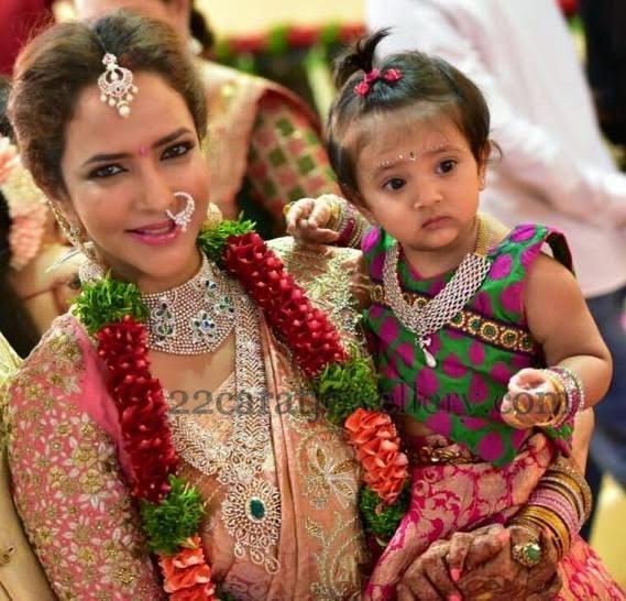 lakshmi manchu daughter jewelry jewellery designs
