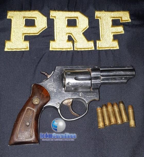Homem de 43 anos é preso por porte ilegal de arma de fogo na BR 405 em Felipe Guerra, RN