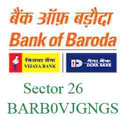 Vijaya Baroda Bank Sector 26 ‐ Gandhinagar Branch New IFSC, MICR