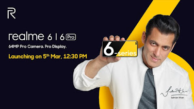 Realme 6, Realme 6 Pro to launch in India on March 5