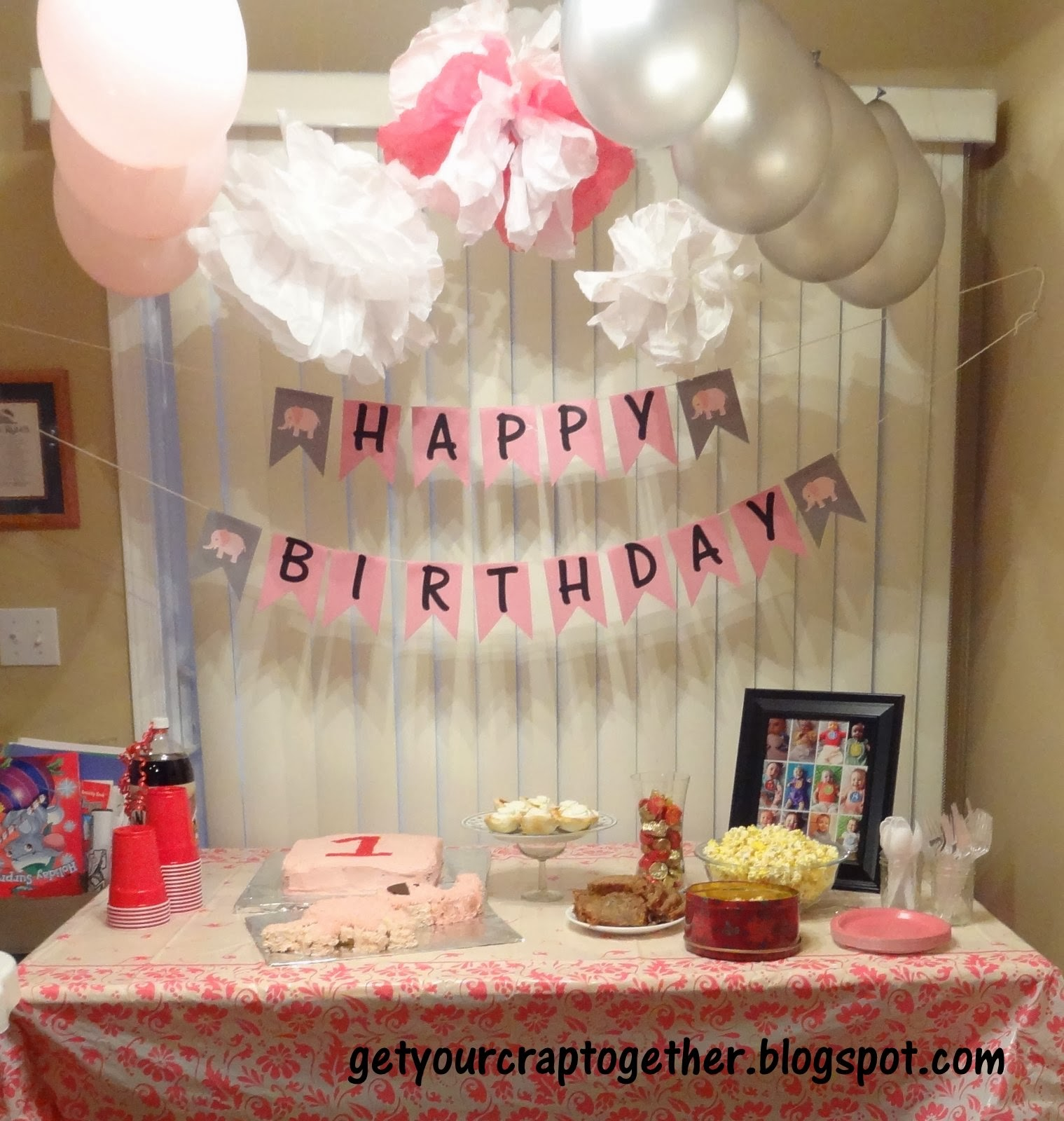 1st Birthday Elephant Party Ideas Printables Gyct Designs